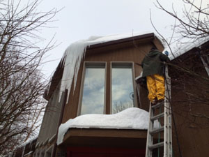 Roof Snow & Ice Dam Removal Services - NJ