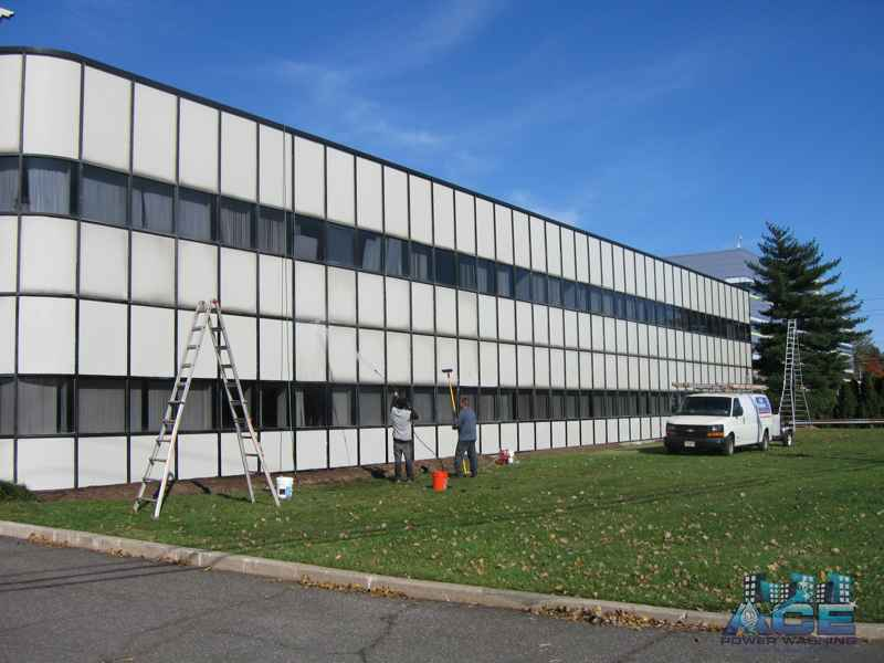 commercial pressure washing and building exterior cleaning nj