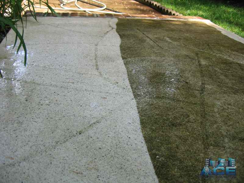Power washing concrete cement in Wyckoff, NJ