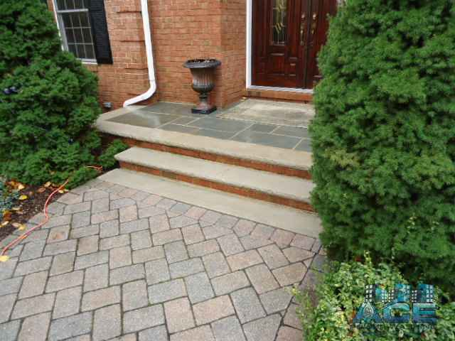 Cleaned concrete steps in Emerson, NJ