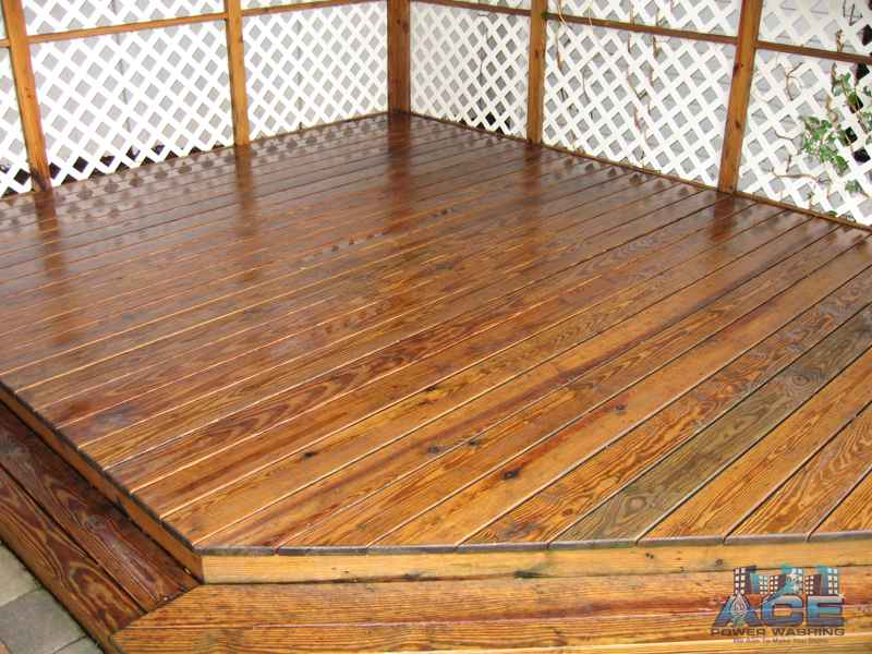 Deck Cleaning of Pressure Treated Deck in Maywood, NJ