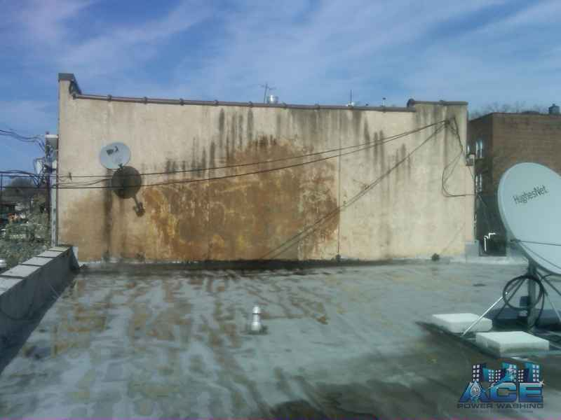 Graffiti Tags Removed from Stucco Building in Palisades Park, NJ