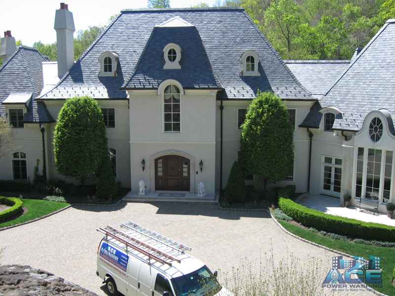 Cleaning of Slate Roof in Old Tappan, NJ