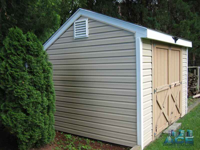 Exterior Cleaning of shed in Fair Lawn, NJ