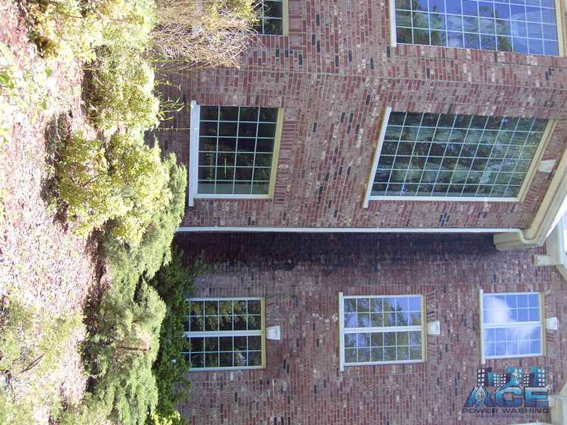 Exterior Cleaning of black mold on Brick siding in Ramsey, NJ