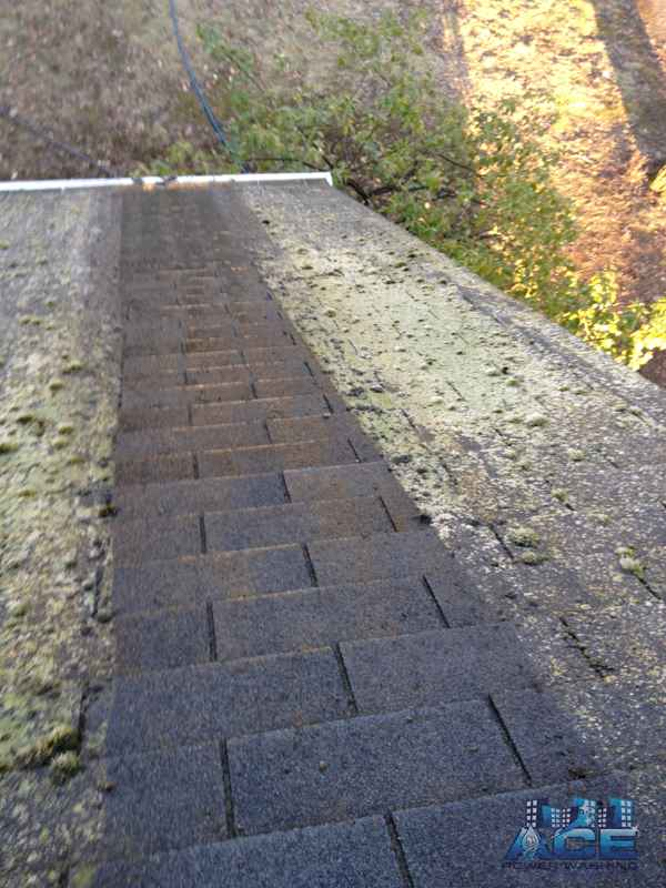Roof Cleaning of Roof Requiring Low Pressure, Soft Washing will not work here in Paramus, NJ