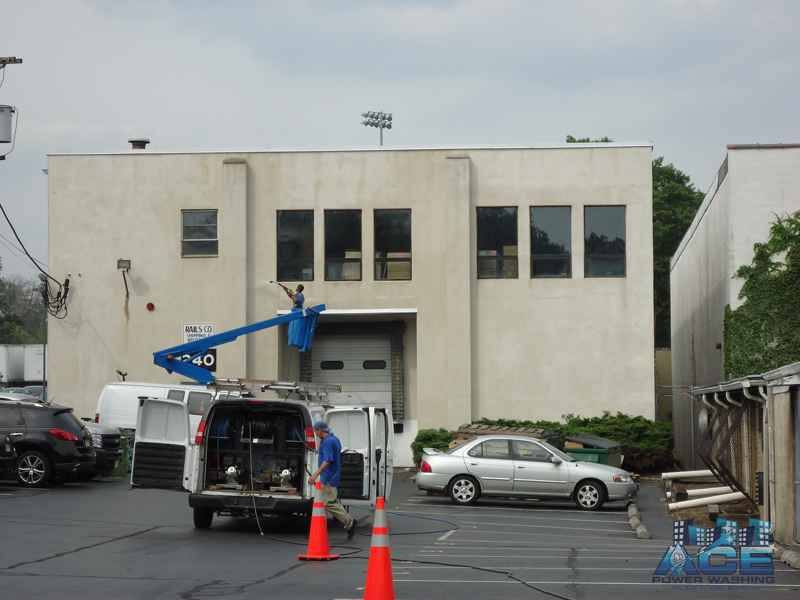 Exterior Pressure Washing of Building in Edison, NJ