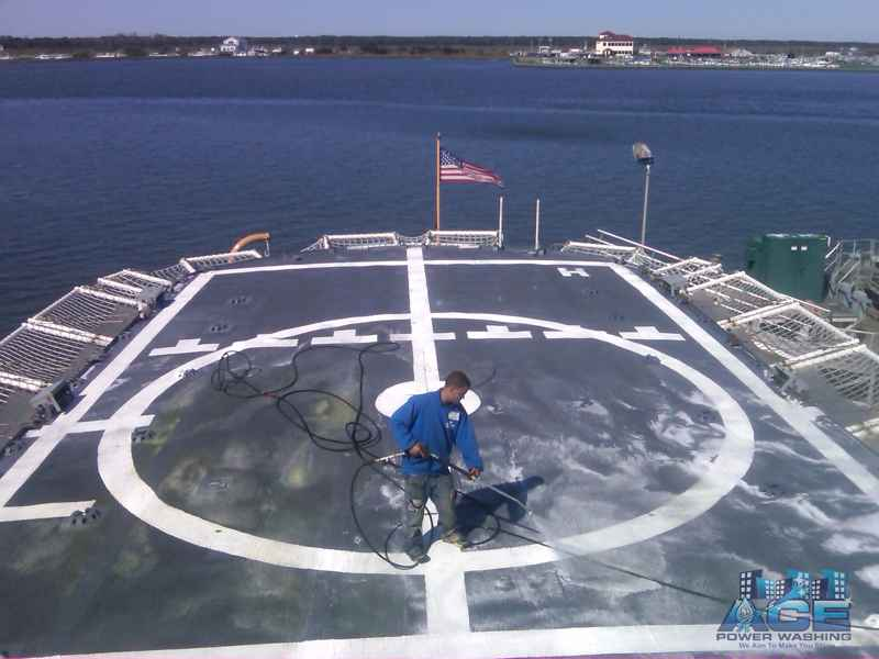 Helicopter Landing Pad Cleaning in Ocean County, NJ
